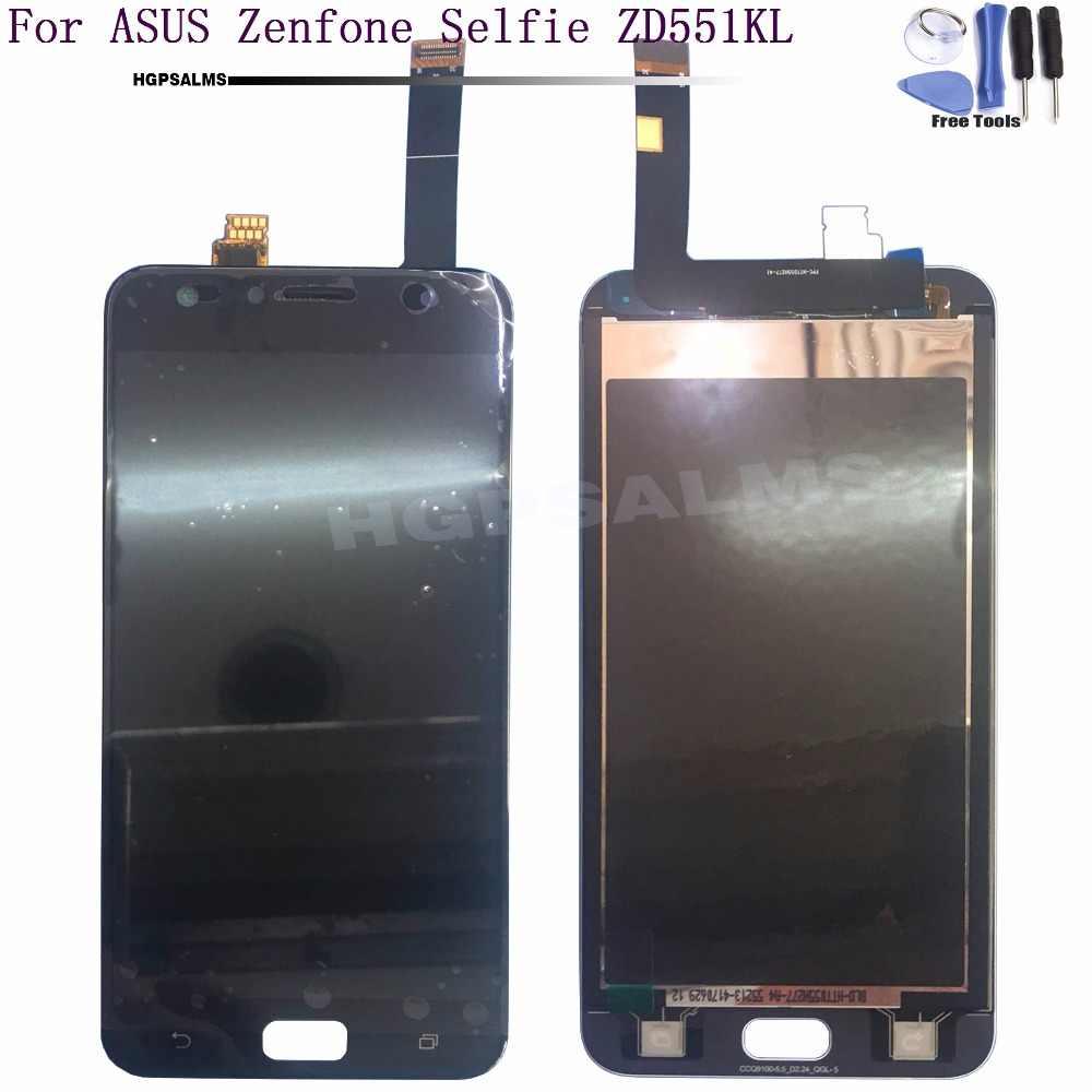 ل ASUS Zenfone Selfie ZD551KL شاشة الكريستال السائل مجموعة المحولات الرقمية لشاشة تعمل بلمس مع إطار ل ASUS ZD551KL