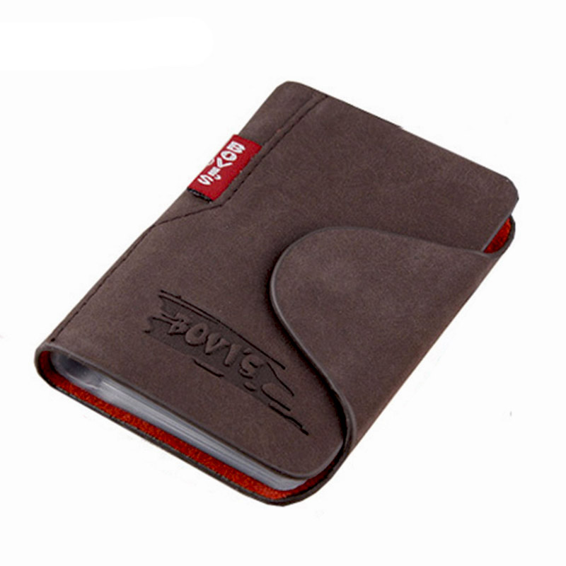 Organizer Bags Hasp-Card Business-Cards-Holder Kudian Bear Genuine-Leather PM20