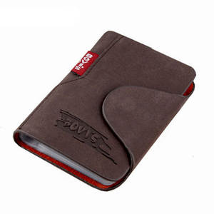 KUDIAN BEAR Genuine Leather Business Cards Holder Cover
