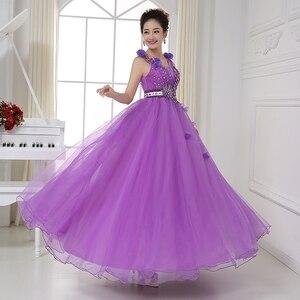 Image 4 - Sexy V hals Sheer Terug Crystal Kralen Light Purple Quinceanera Jurken Baljurken Blauw Prinses Prom Dresses Vestido Debutantes