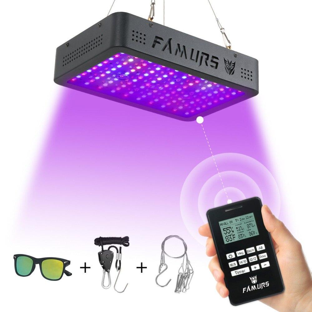Famurs led lumière de croissance 1000 W spectre complet Veg/Bloom minuterie groupe lampe de contrôle à distance pour plantes d'intérieur phyto lampe de culture tente