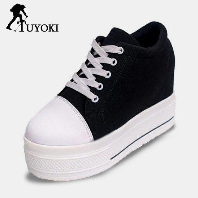 49c6108ad Tuyoki Trifle Shoes Concise Rodada Dedo Do Pé Das Mulheres Sapatos de  Caminhada Sneakers Fundo Grosso Diárias Lazer Calçados Femininos Tamanho 35  40