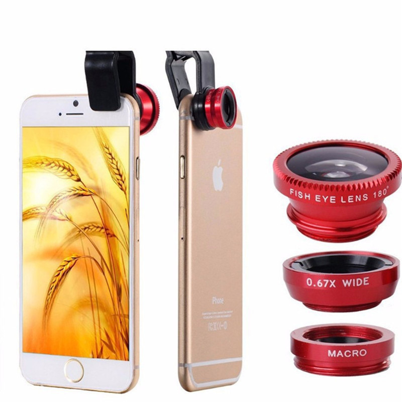 3 in 1 fisheye macro wide angle mobile phone lenses for sony z1 z2 z3 z4 z5 compact camera universal clip fit for xperia c3 t3