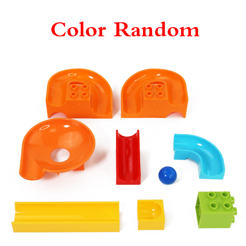 32Pcslot LegoINGly Duplo Building Block Wall BasePlate Designer Marble Race Run Blocks Educational Toys For Kids Christmas Gifts (1)
