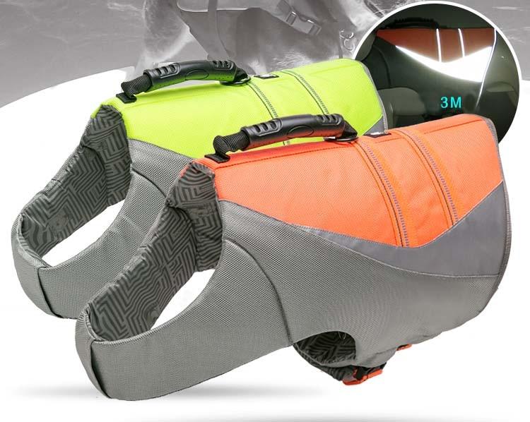 Truelove Pet Dog Life Jacket Vest Flotation Device Safety Adjustable Reflective Secure Swimwear Dog Life Saver french bulldog (2)