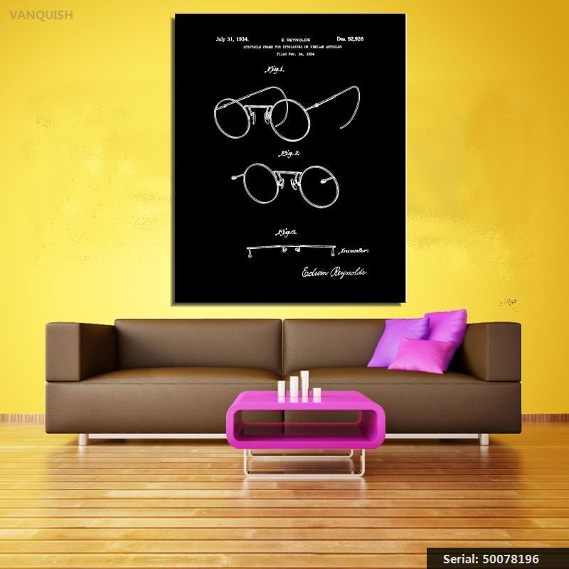 prix bas remise spéciale de bons plans sur la mode € 7.22 50% de réduction|VANQUISH Monture de lunettes 1934 Brevet Art Dessin  par Avant Art Design Encore vie Moderne Peinture à l'huile Dessin art ...