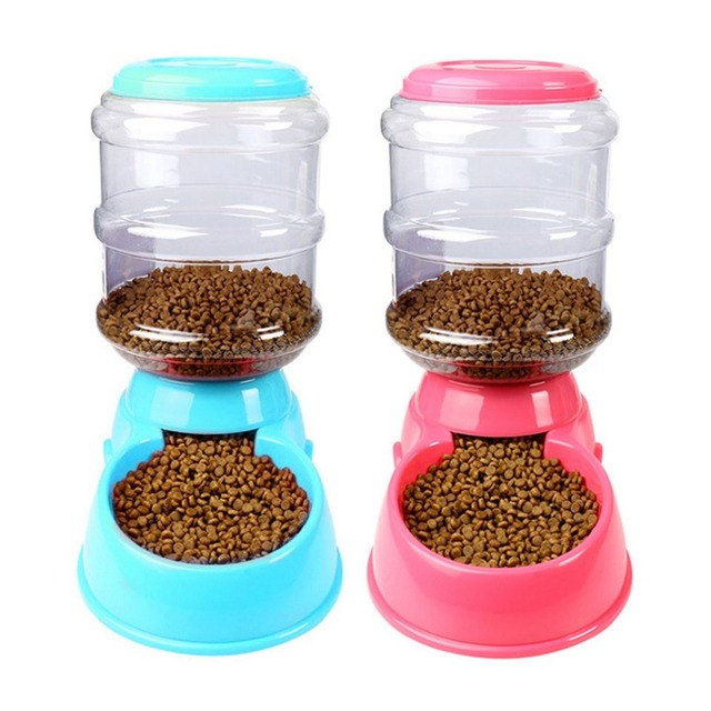 Automatic Pet Feeder 3.5L Food Bowl Dispenser Feeding Tools Safety Plastic Food Bowl Dispenser Pet Dog Cat Supplies