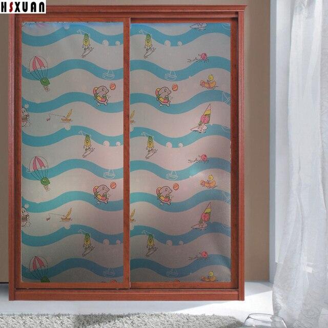 Océano animales de impresión decoración de la ventana película de ...