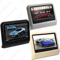 FEELDO 2Pcs 9 Inch (16:9 )Car Headrest Monitors Digital LCD AV 9 HD Monitor Remote Control Black,Beige,Grey #AM3857