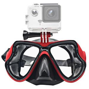 Image 2 - ססגוניות צלילה מסכת צלילה שנורקל שחייה Googgles מזג משקפיים לgopro גיבור 7 6 5 4 3 Xiaomi יי 4K SJCAM EKEN H9