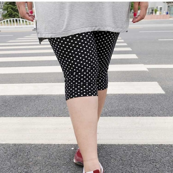 2018 cotton pants sexy knee length pant lady summer short capris large size polka dot slim pants women hot short