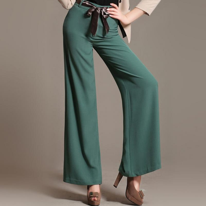 new women ol   pants   loose solid color   wide     leg     pants   straight casual   pants
