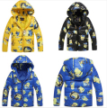 Minion Jacket Despicable Me Boys Girls Winter Coat kids Clothes Winter Down Coat Warm Baby Children cotton-padded Hooded Coat