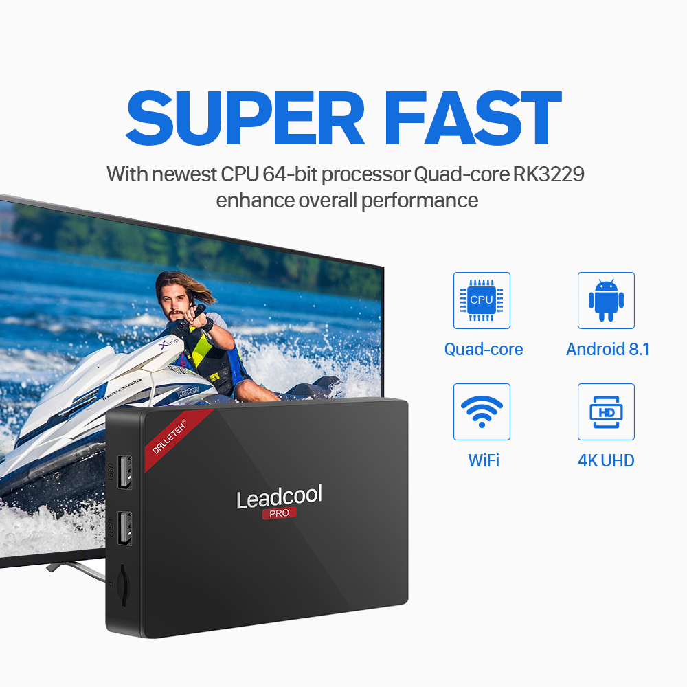 Image 5 - Leadcool Pro Android 8.1 TV Box Iptv France RK3229 1GB 8GB IUDPRO Iptv Subscription Greece Arabic Spain IP TV Netherland Sweden-in Set-top Boxes from Consumer Electronics