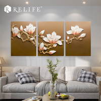 3 шт. 60x80 см Магнолия Модульные Стены Триптих Картины смолы цветок Nordic украшения Книги по искусству фотографии