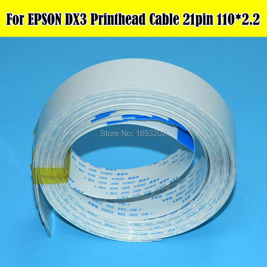 10 Pieces/Lot DX3 Printhead Cable For DX 3 Printer Head Cable Data 21pin 110*3.2cm