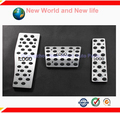 Free shipping Aluminum Alloy AT  Pedal Foot Rest Brake Gas Fuel Pedals Pads For W124 W140 W202 W210 W211 W220 W221 R170
