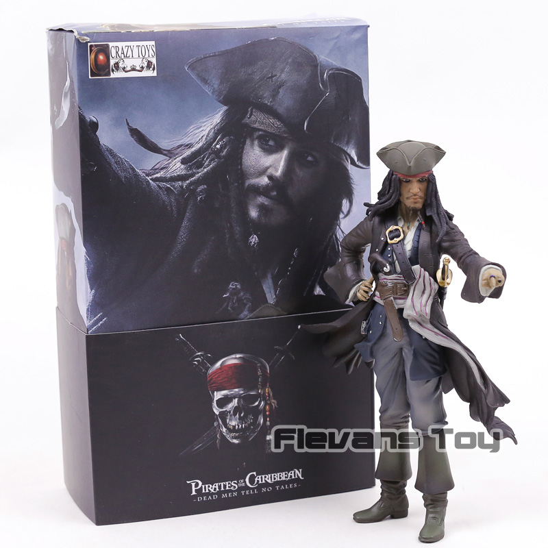 Crazy Toys Pirates of the Caribbean Jack Sparrow Jackie Captain PVC Statue Figure Collectible Model Toy loz pirates of the caribbean jack salazar mini blocks brick heads figure toy assemblage toys offical authorized distributer