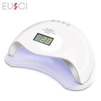 EUSCI SUN5 UV Lamp LED Nail Lamp Nail Dryer For All Gels Polish Sun Light Infrared Sensing 10/30/60s Timer Smart For Manicure
