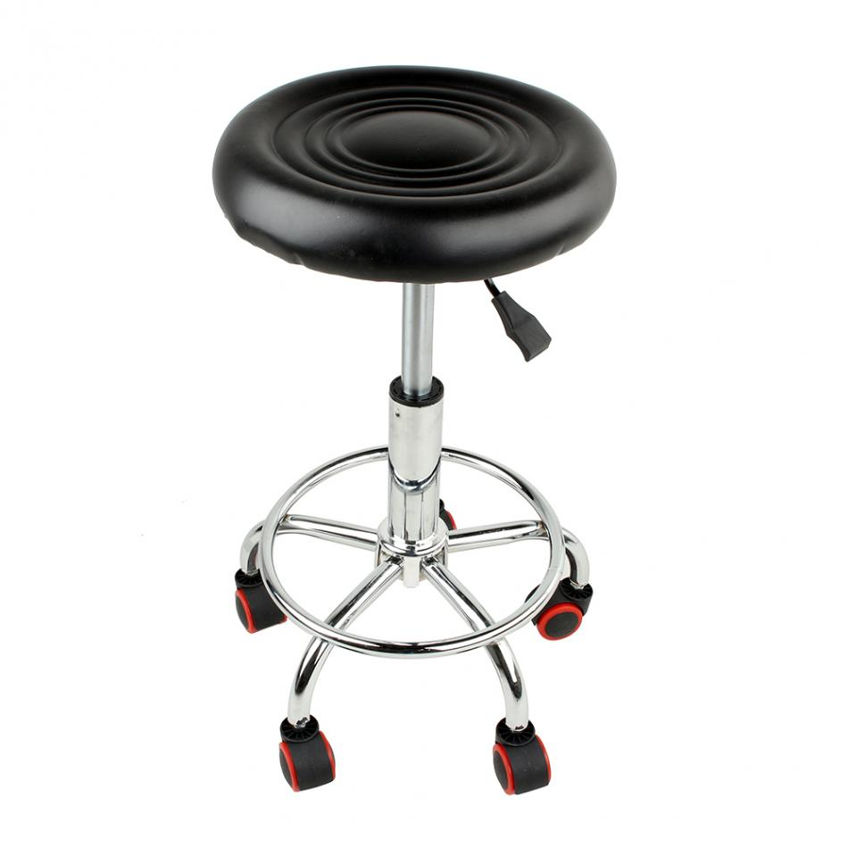 Adjustable Beauty Spa Salon Stool Barber Tattoo Hairdresser Chairs Black Rolling Tools ...
