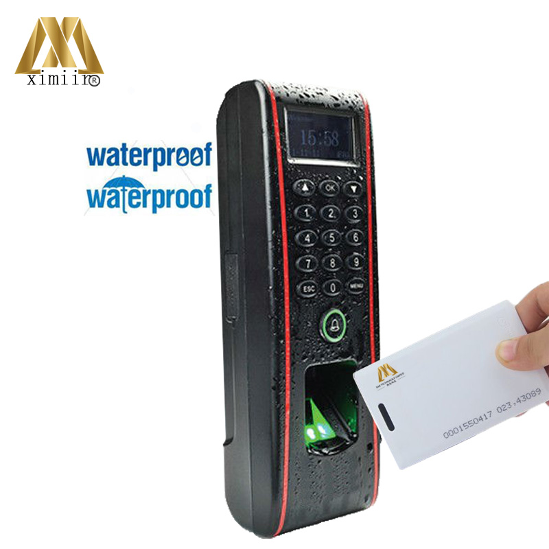 ZK TF1700 IP65 Waterproof Biometric Fingerprint Access Control System 125KHZ RFID Card Access Controller With RJ45 Communication waterproof ip65 outdoor fingerprint access control outdoor access control with rfid card access controller tcp ip tf1700