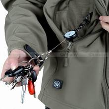 EDC Outdoor Steel Rope Burglar Keychain Tactical Retractable Key Chain Camping Key Ring(China)