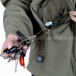 EDC Открытый стальной канат грабитель брелок Тактический Брелок-ретрактор брелок для кемпинга