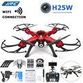 JJRC H25W WIFI FPV Quadcopter Controle Remoto Com Câmera de 720 P 2.4G 4CH 6-Axis Gyro RC Drone RTF Móvel Vermelho Cinza profissional