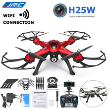 JJRC H25W WIFI Quadcopter Remote Control FPV With 720P Camera 2.4G 4CH 6-Axis Gyro RC Drone RTF Mobile Red Gray Professional