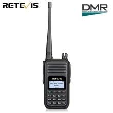 "Retevis RT80 DMR רדיו דיגיטלי רדיו נייד UHF 400-480MHz 5W 999 ערוצים VOX אזעקה Ham רדיו HF מקמ""ש"