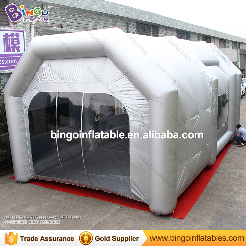 Free Shipping Inflatable Spray Paint Workshop Booth Tent High Quality 9x5.2x4.1 Meters Cabina de pintura inflable for toy tents
