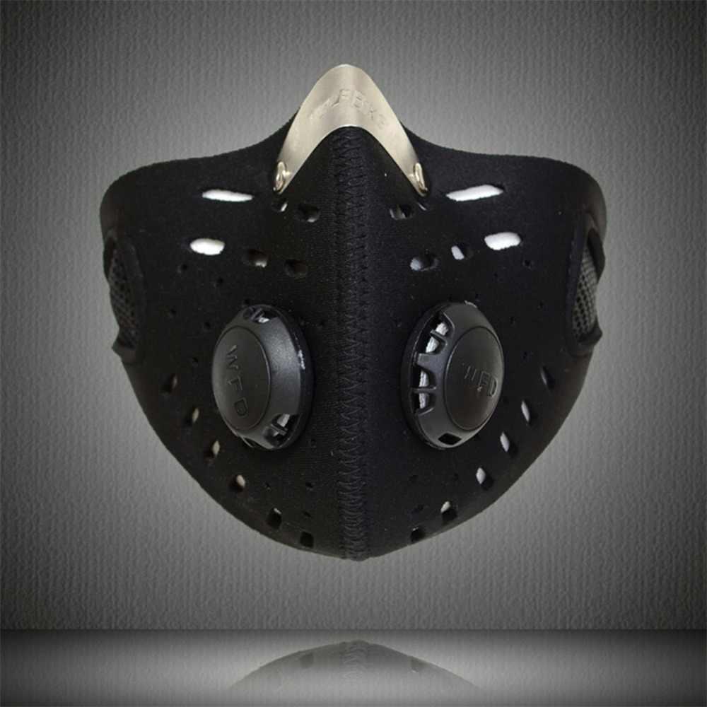 Mascaras ciclismo masque moto фильтр Маска моющаяся PM 2,5 Маска для катания на горных велосипедах Бег Спорт велосипед маска для лица