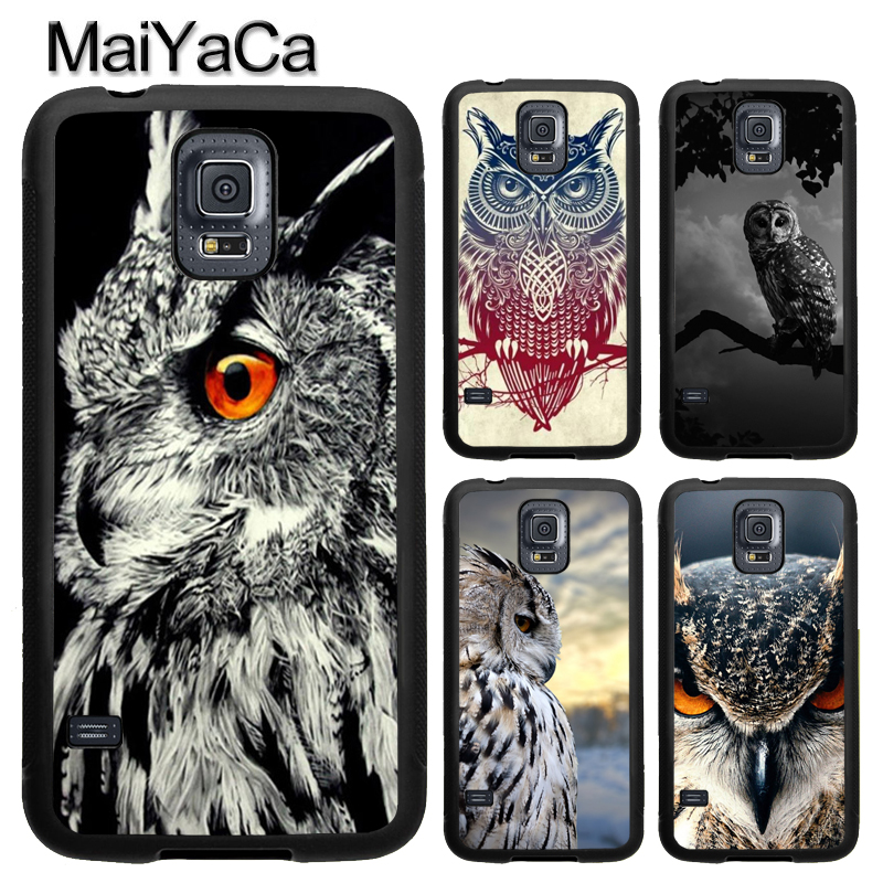 MaiYaCa Owl Animal Pattern Soft TPU Phone Case Cover Coque For Samsung S4 S5 S6 S7 edge S8 S9 plus Note 8 Note5 Note4 Capa