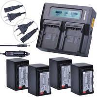 4 piezas 5200 mAh VW-VBD58 VBD29 VBD58 baterías VBD78 + Kits de doble cargador LCD rápido para Panasonic AJ-HPX260MC, HPX265MC... PX270... PX280MC