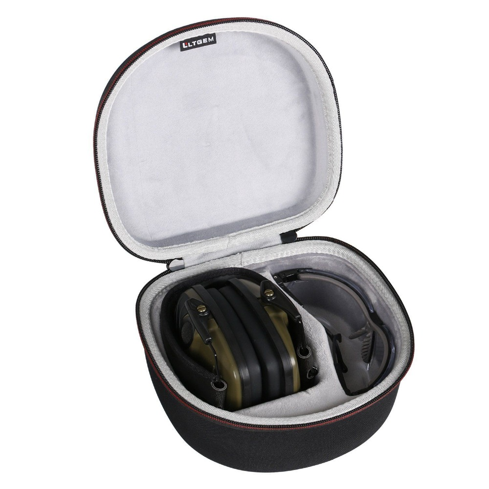 LTGEM Case For Both Howard Leight By Honeywell Impact Sport Earmuff And Genesis Sharp-Shooter Safety Eyewear Glasses (R-03570)