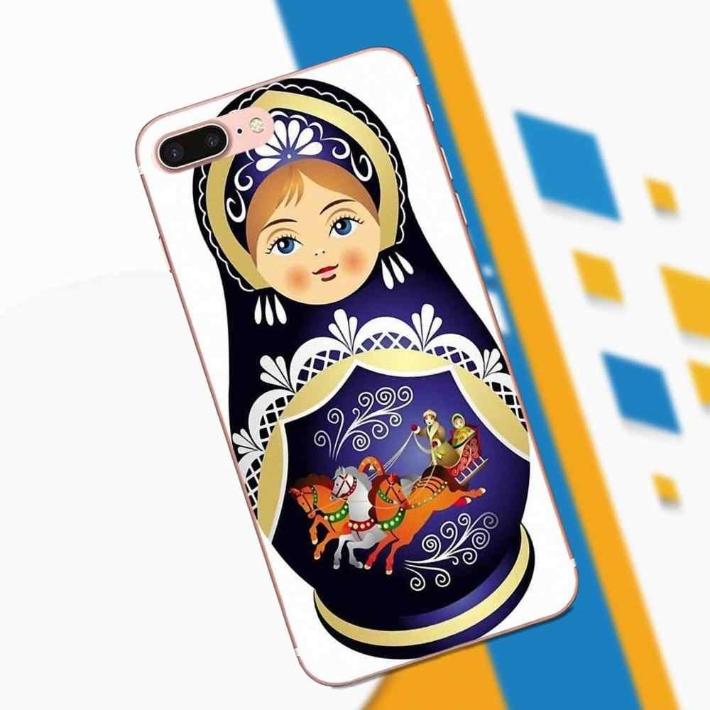 Чехол из ТПУ с узором чехол КРЫШКА ДЛЯ samsung Galaxy Note 2, 3, 4, 5, 8 9 S3 S4 S5 S6 S7 S8 S9 mini Edge Plus красочные русская матрешка