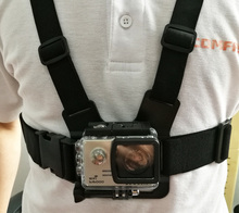 цена на Go pro Accessories Shoulder Chest Belt Strap Mount For Go Pro 5 4 3+ SJCAM SJ4000 M10 M20 SJ5000 Action Camera Accessories