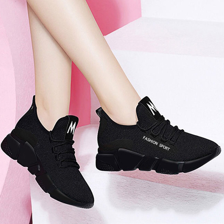 Casual-Shoes Sneakers Women Lightweight Fashion Walking-Mesh Breathable New Lace-Up