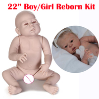 Reborn doll kit full body Anatomically Correct DIY 22 boy girl real baby dolls alive parts bebe kit reborn accessories