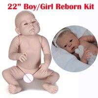 Reborn doll kit full body Anatomically Correct DIY 22 boy girl real baby dolls alive parts bebe kit reborn accessories