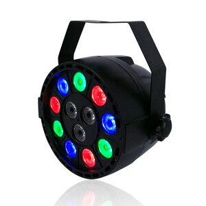 LED Flat Par 12x3W RGBW Lighting Professional LED Stage Lights Effect DMX512 Equipments Controller Master-Slave DJ Disco Party(China)