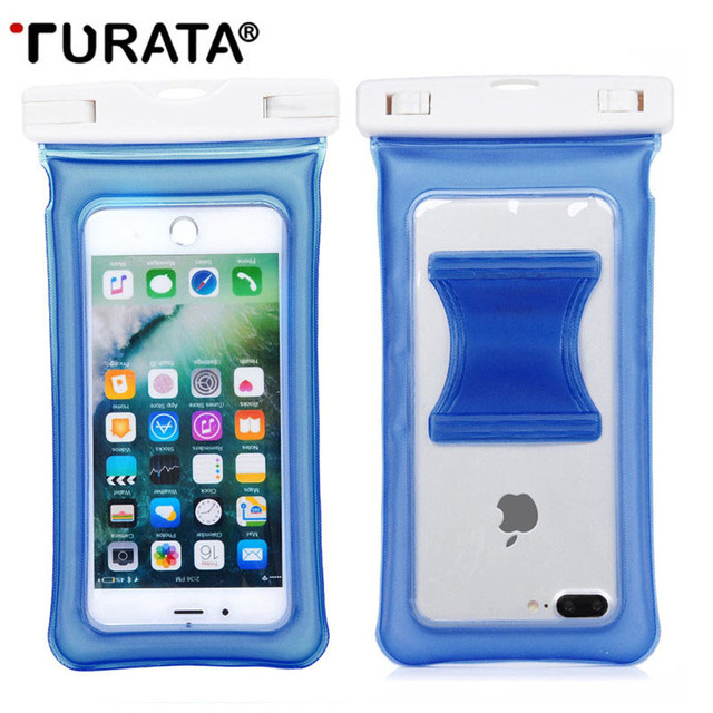 huge selection of 37fd6 e1053 US $4.5 |TURATA Air Bag Waterproof Case Underwater Pouch Phone Cover For  iPhone 7 6 6S Plus For Samsung Galaxy S6 S7 Edge Note 5 7 HTC-in Phone  Pouch ...
