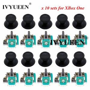 IVYUEEN 10 Sets 3 pin 3D Analog Joystick Stick Sensor Module Potentiometers & Thumbsticks Cap for Microsoft XBox One Controller(China)