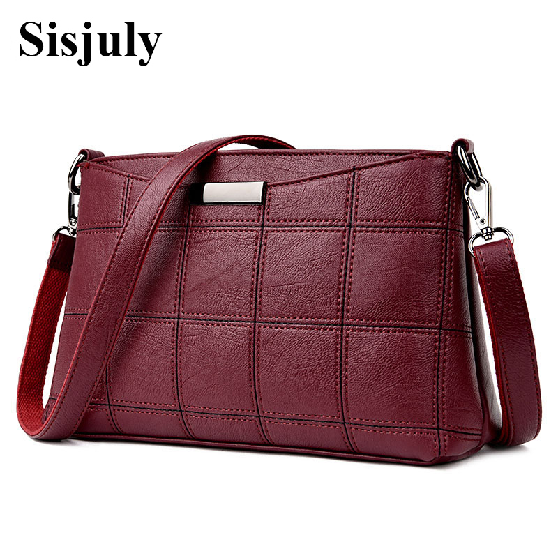 Sisjuly 2018 Luxury Women Messenger Bag Female Crossbody Bag Leather Women Shoulder Bags Famous Brand Designer Mini Bags Sac sisjuly фуксин xl