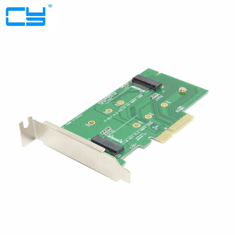 M.2 NGFF PCIe 4 LANE SSD to pci-e PCIE 3.0 x4 & NGFF to SATA Adapter for Samsung xp941 LITE-ON IT M6E With Low Profile Bracket factory price mosunx 2 in 1 mini pci e 2 lane m 2 and msata ssd to sata iii 7 15 pin adapter drop shipping drop shipping