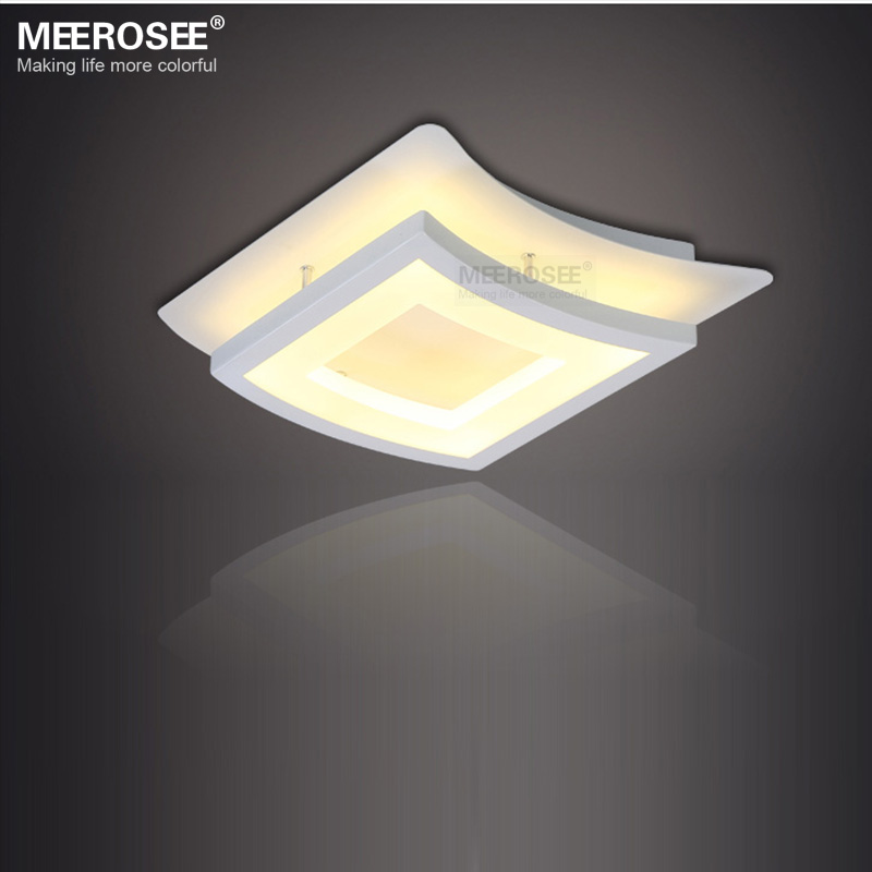 Modern LED Ceiling Light Fixture White Acrylic Windows shape Flush Mounted Ceiling light for Home Decoration