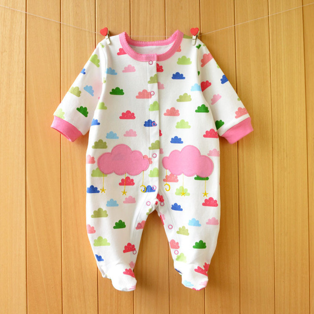 301f7052f874 2017 New Fresh baby rompers cotton 100% girls clothes long sleeve ...