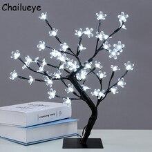 Luminarias Árbol de flor de cereza LED ramas de cristal lámparas de noche para mesa lámparas dormitorio fiesta boda interior decoración iluminación