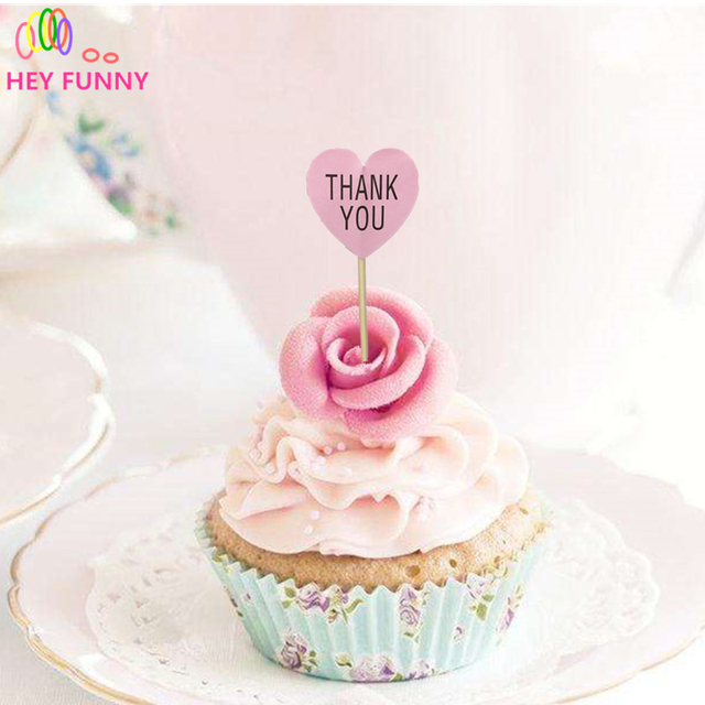 10pcs thank you topper sticker pink topper cupcake toppers baby 10pcs thank you topper sticker pink topper cupcake toppers baby shower wedding decorations party junglespirit Images
