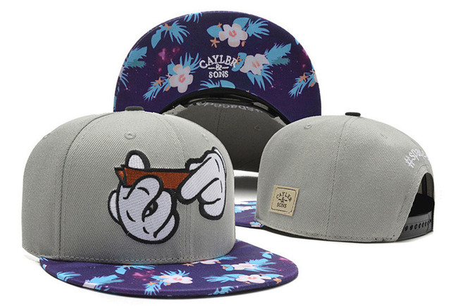 Cayler and Sons white window crumelin printed snapback hat mickey rolling  hands baseball cap chronic weed maple leaf bone gorras 850a7f81053